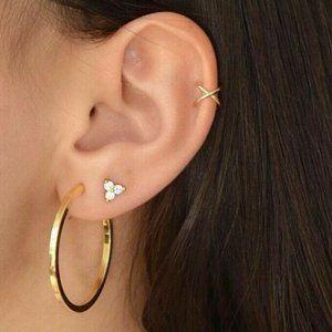 NWOT Gold Hoop Set of 4 Earrings